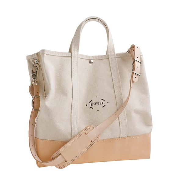 J. Crew Bags   Steele Canvas Basket Corp For Jcrew Tote   Poshmark 555c307aaf